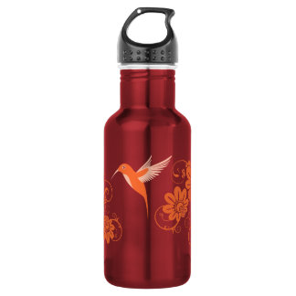 Colibri and Flowers Stainless Steel Water Bottle