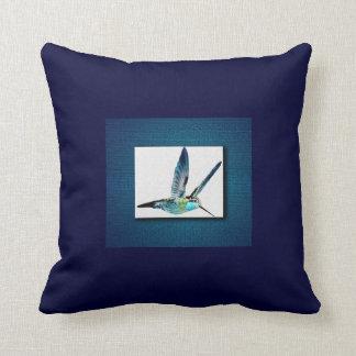 Colibrí azul almohadas