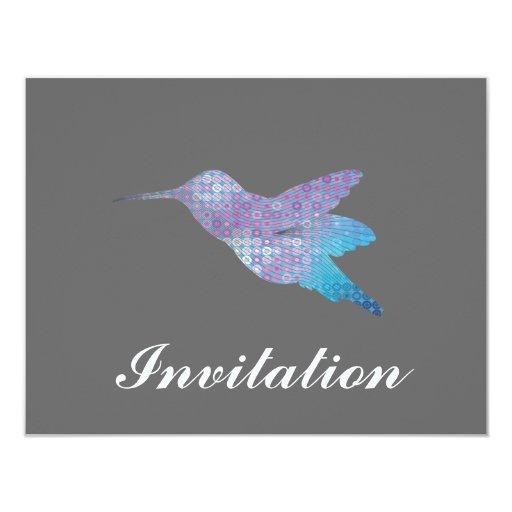 Colibrí azul invitación 10,8 x 13,9 cm