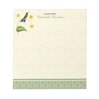 Colibrí brillante coronado verde libretas para notas