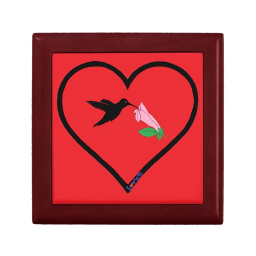 colibrí caja de recuerdo