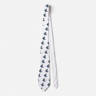 Colibrí cargado en cuenta amplio corbata personalizada