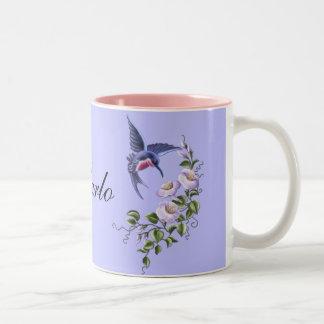 Colibrí con la taza de las flores 2
