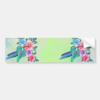 Colibrí de moda lindo fresco de los watercolours pegatina para auto