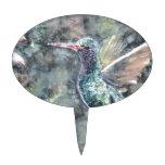 colibrí decoración de tarta