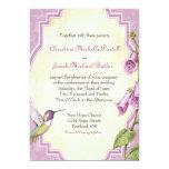 Colibrí del Foxglove - invitación del boda
