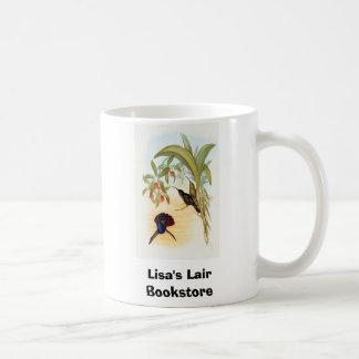 Colibrí del SABRE-Ala de Gould - de Lazuline Taza Básica Blanca