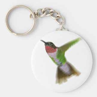 Colibrí del vuelo llavero redondo tipo pin