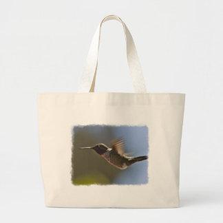 Colibrí en vuelo bolsa tela grande