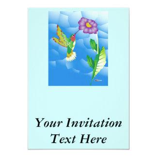"""Colibrí:  Estilizado Invitación 5"""" X 7"""""""