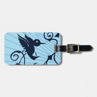 colibrí etiquetas para maletas