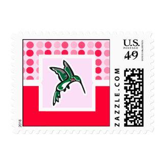 Colibrí lindo sellos