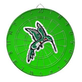 Colibrí lindo; Verde Tablero De Dardos