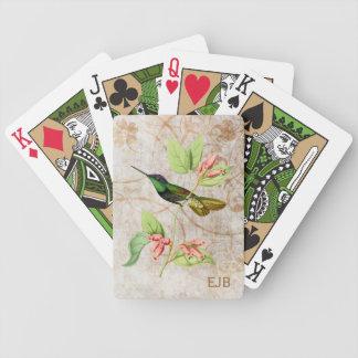 Colibrí magnífico baraja de cartas
