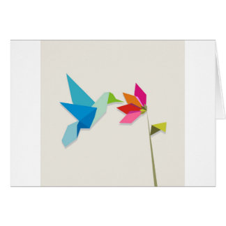 Colibri origami greeting card