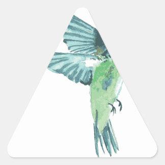 Colibrí Pegatina Triangular