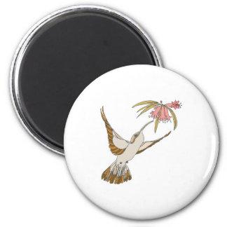colibrí realista bonito imán para frigorifico