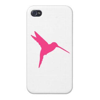 Colibrí rosado iPhone 4 protectores