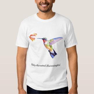 colibrí Rubí-throated Remera