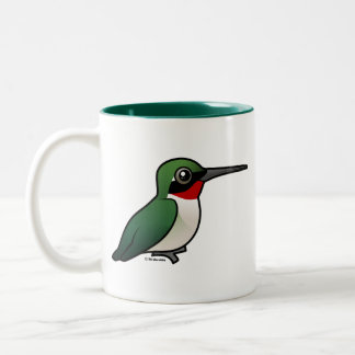 colibrí Rubí-throated Tazas