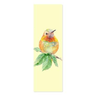 Colibrí rufo, pájaro, naturaleza, señal del jardín tarjeta de visita