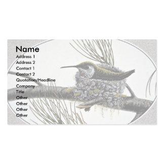 Colibrí rufo tarjetas de visita