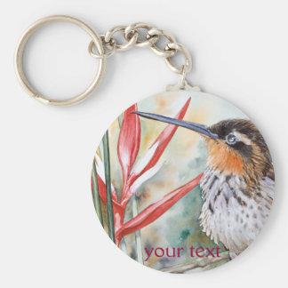 colibrí Sierra-cargado en cuenta del ermitaño Llavero