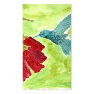 colibrí plantilla de tarjeta personal