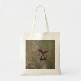 colibrí throated de rubíes bolsa tela barata