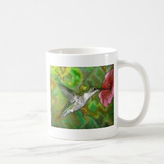 Colibrí throated de rubíes taza de café