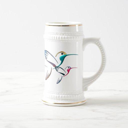 Colibrí tropical metálico taza
