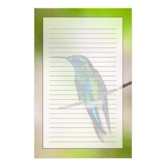 Colibrí verde del Violeta-oído Papelería De Diseño