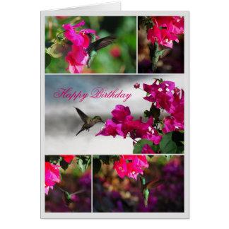 Colibrí Verde-throated del Carib del feliz Tarjeta De Felicitación