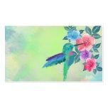 Colibrí vibrante lindo fresco de los watercolours  tarjetas de negocios
