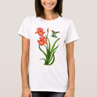 Colibrí y camisa Throated de rubíes de los iris
