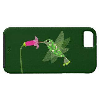 Colibrí y flor rosada iPhone 5 carcasa