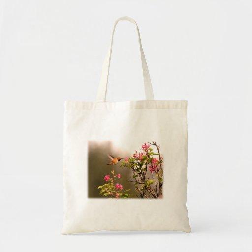 Colibrí y flores bolsas