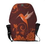 Colibri y flores bolsas messenger