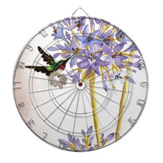 Colibrí y flores tablero dardos