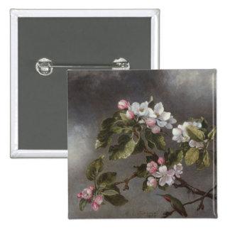 Colibrí y flores Martin J. Heade de Apple Pin Cuadrada 5 Cm