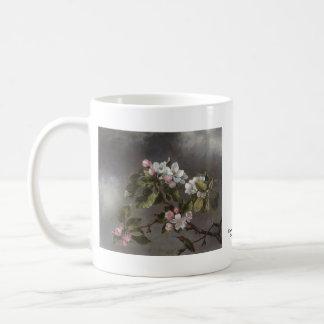 Colibrí y flores Martin J. Heade de Apple Taza
