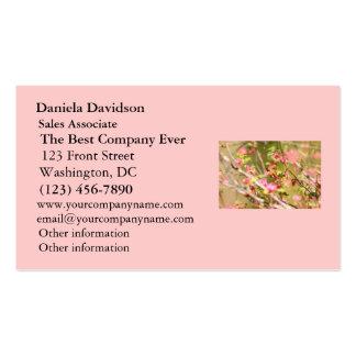 Colibrí y flores rufos tarjetas de visita