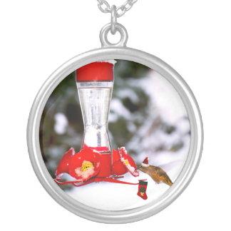 Colibrí y nieve del navidad colgantes personalizados