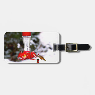 Colibrí y nieve del navidad etiquetas bolsas