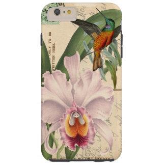 Colibrí y orquídea funda para iPhone 6 plus tough