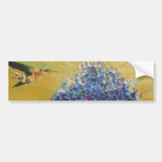 Colibrí y pegatina para el parachoques azul del Hy Pegatina Para Auto