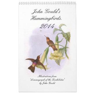 Colibríes 2014 de Juan Gould Calendario