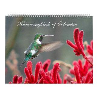 Colibríes de Colombia Calendarios De Pared