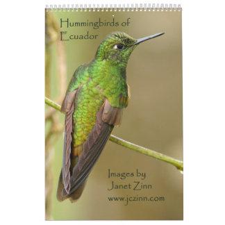 Colibríes del calendario de Ecuador