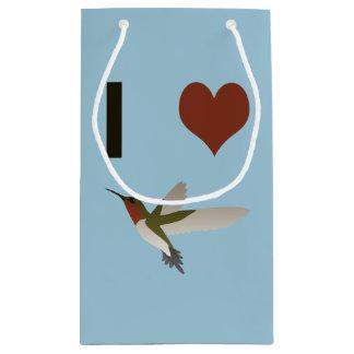 Colibríes del corazón I Bolsa De Regalo Pequeña